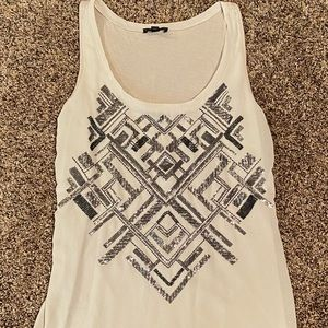 Express Tank top with black and gray sequin design